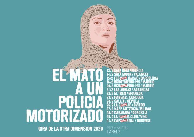 gira española de el mato a un policia motorizado