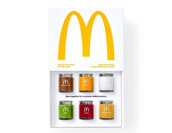 velas aromáticas de hamburguesa