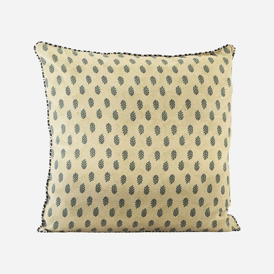 flora olive green cushion cover 50x50 cm by house doctor