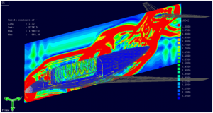CEM for HIRF - The HIRF fields are visualized on the aircraft exterior skin