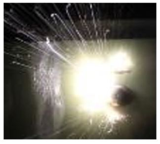 3.3.2-2-image-of-lightning-fuel-tank-ignition-Illustration of photographic evidence of an ignition even in a calibrated, ignitable atmosphere. Lightning fuel tank ignition example