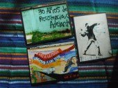 "Item#035 - Three blank note cards - Guatemalan Graffiti - ""30 Years of resistance. Forward!"" - ""No to the Mine!"""