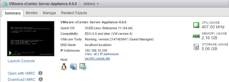 vCenter Appliance (vCSA) 6 0 - New & Improved – emadyounis com