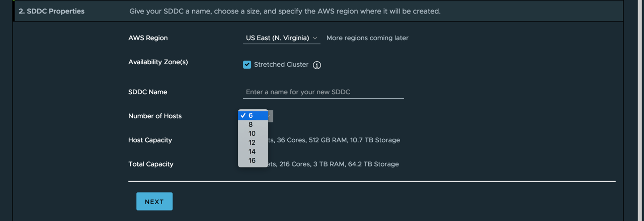Stretched Clusters for VMware Cloud on AWS - Additional Hosts