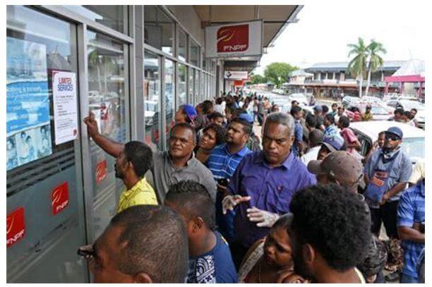 COVID queue Fiji