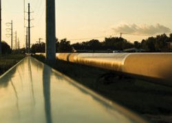 Alex Moore  on pipeline expansion © R. C. Boden