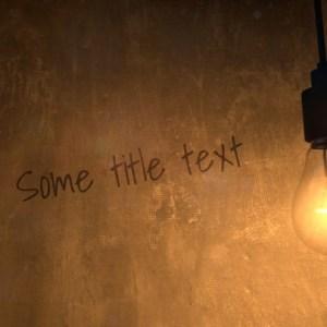 Lightbulb Title