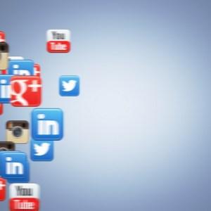 Social Icons Floating Linkedin