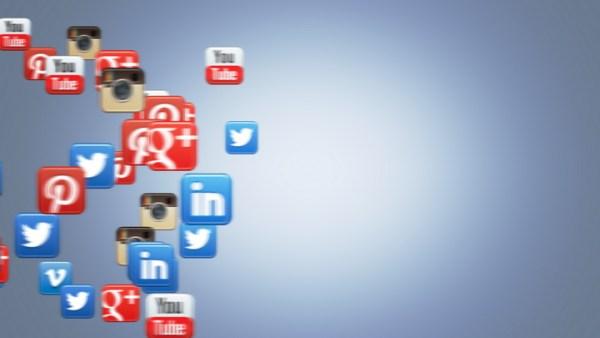 Social Icons Floating Pinterest