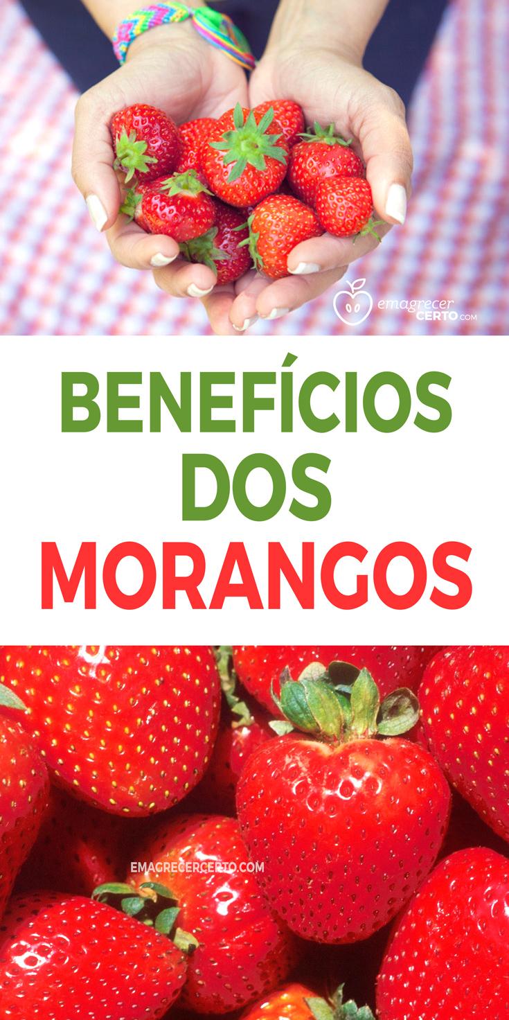 BENEFÍCIOS DOS MORANGOS Blog Emagrecer Certo