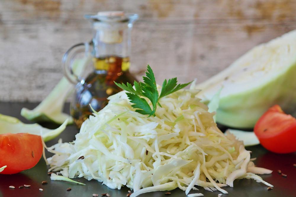 Preparando Salada de Repolho