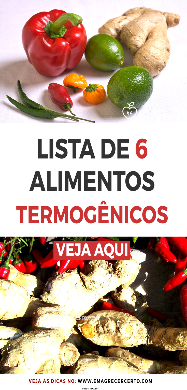 Lista de Alimentos Termogênicos para Emagrecer