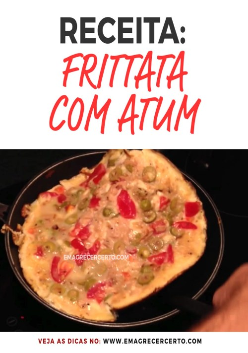 Receita Frittata com Atum do blog Emagrecer Certo