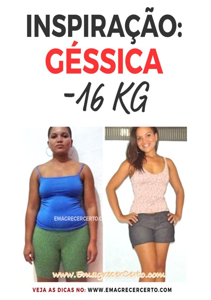 Inspiração Géssica eliminou 16kg | Blog EmagrecerCerto.com