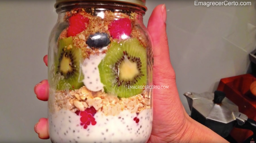 Overnight oats blog Emagrecer Certo