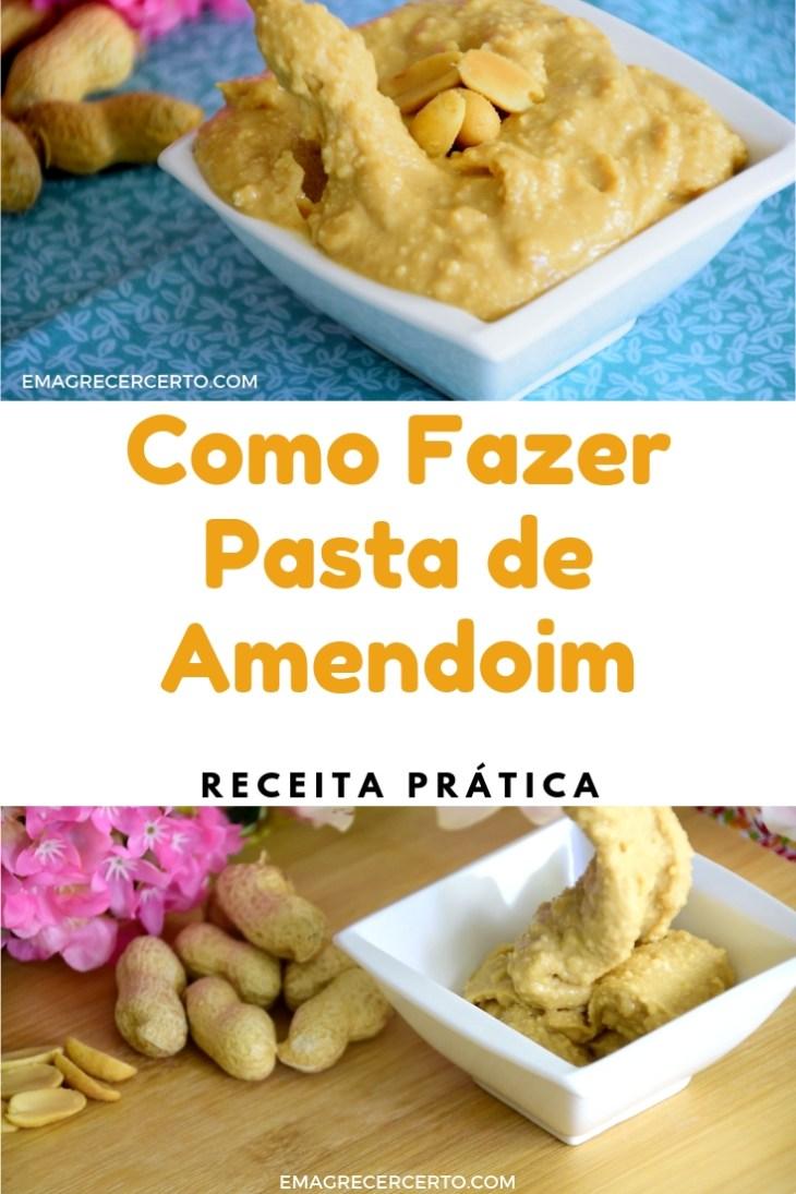 Pasta de amendoim blog Emagrecer Certo #receita #pastadeamendoim