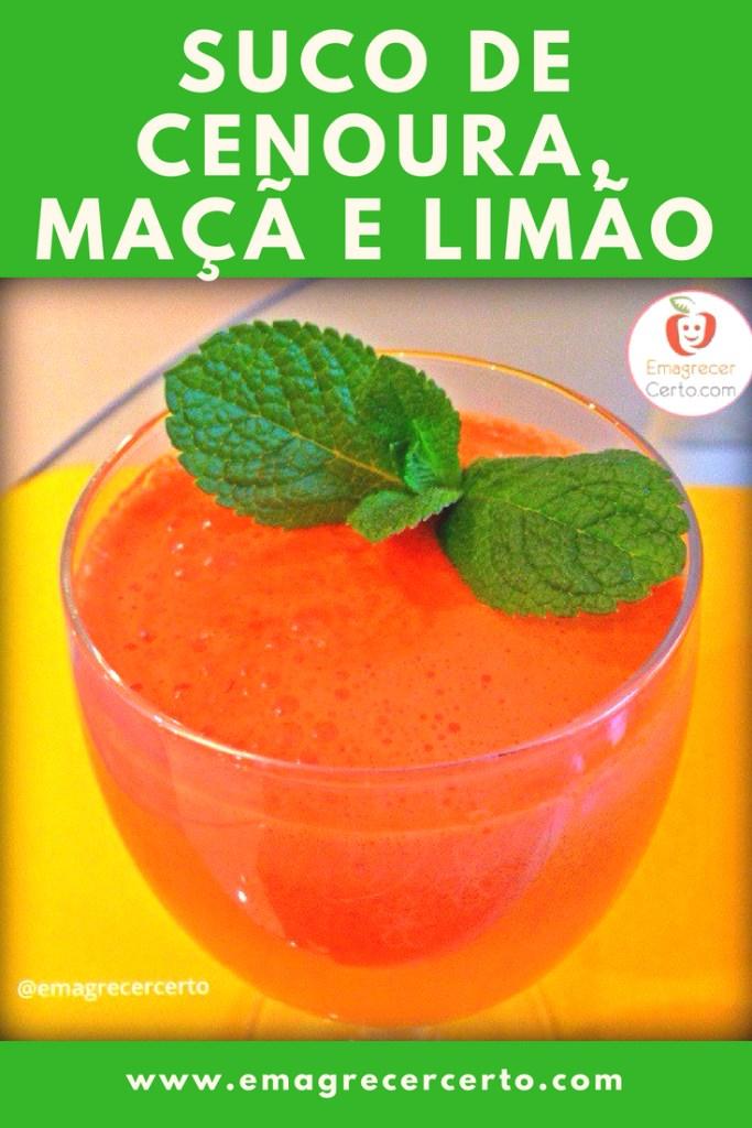 Suco de Cenoura, Maçã e Limão