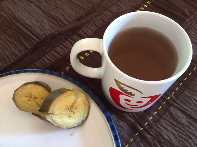 chá de banana