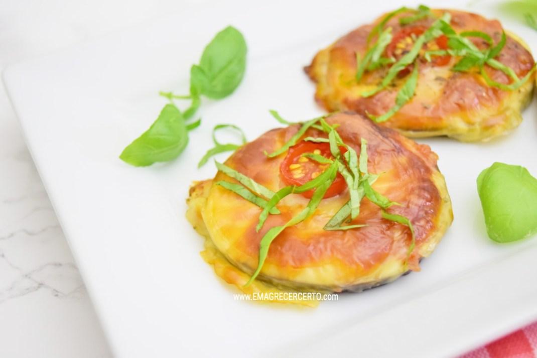 mini pizzas de beringela blog emagrecer certo