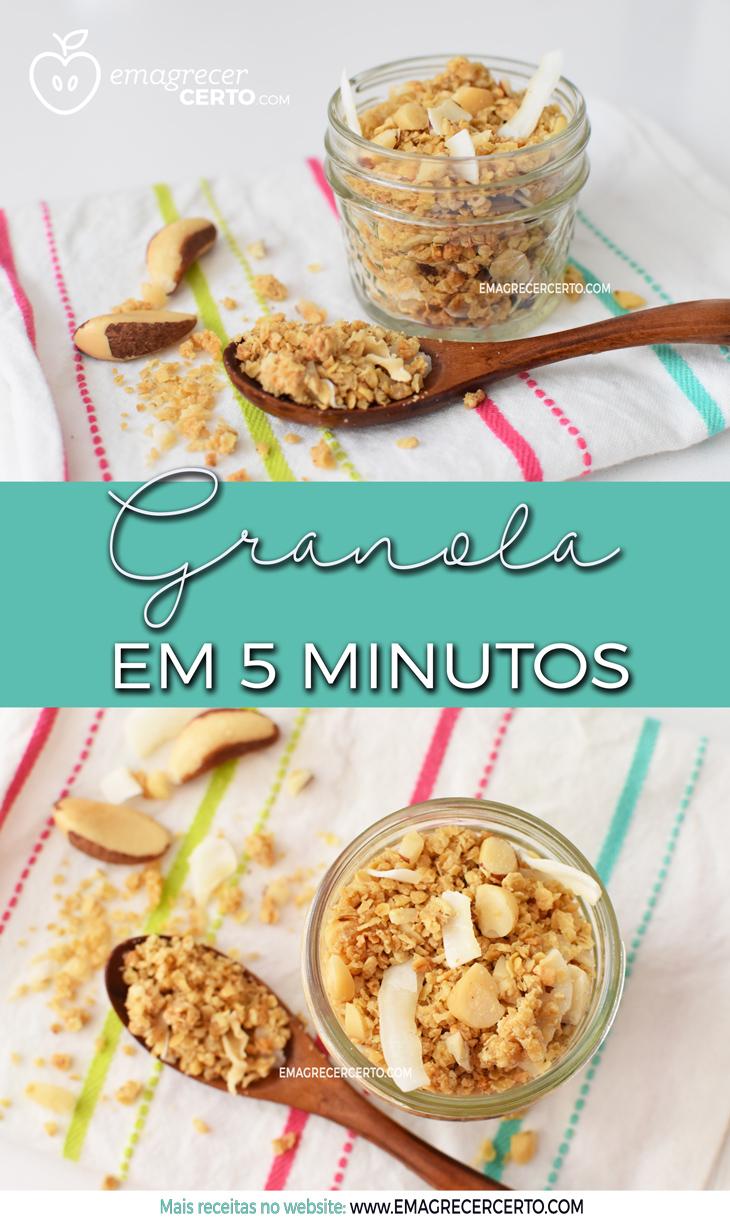 Como fazer granola em 5 minutos