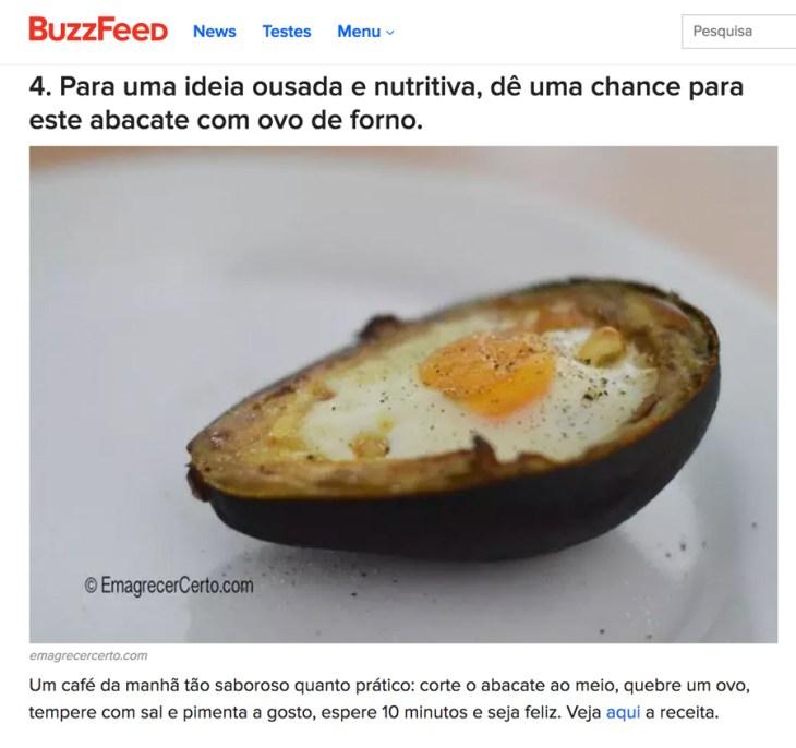 destaque Buzzfeed Brasil blog emagrecer certo