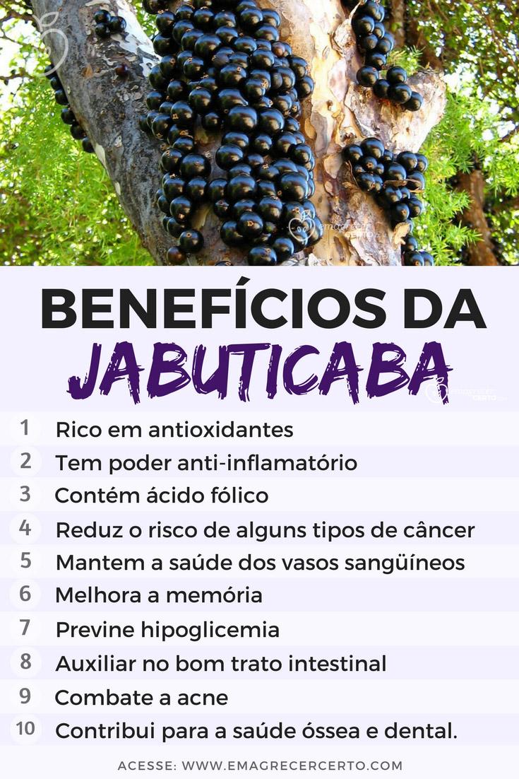 Benefícios das Jabuticabas | Blog EmagrecerCerto.com @emagrecercerto #jabuticaba # frutas