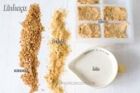 Semente de linhaça, farinha de linhaça, leite de linhaça, fibra de linhaça, gel de linhaça
