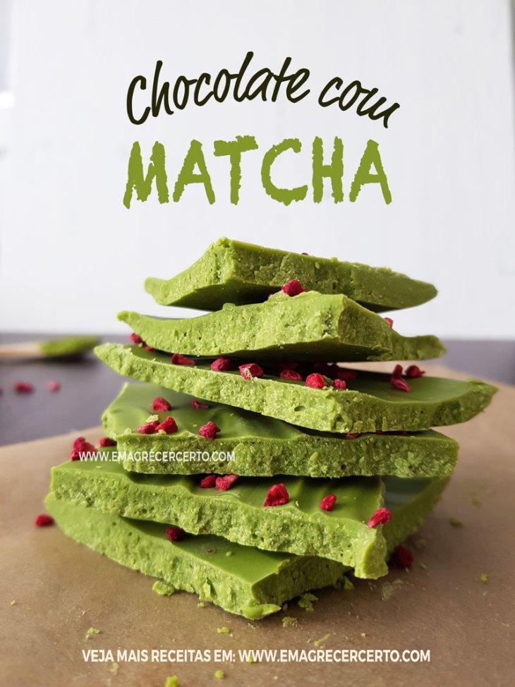 Chocolate com matcha | Blog EmagrecerCerto.com #emagrecer #matcha #chocolate #gourmet
