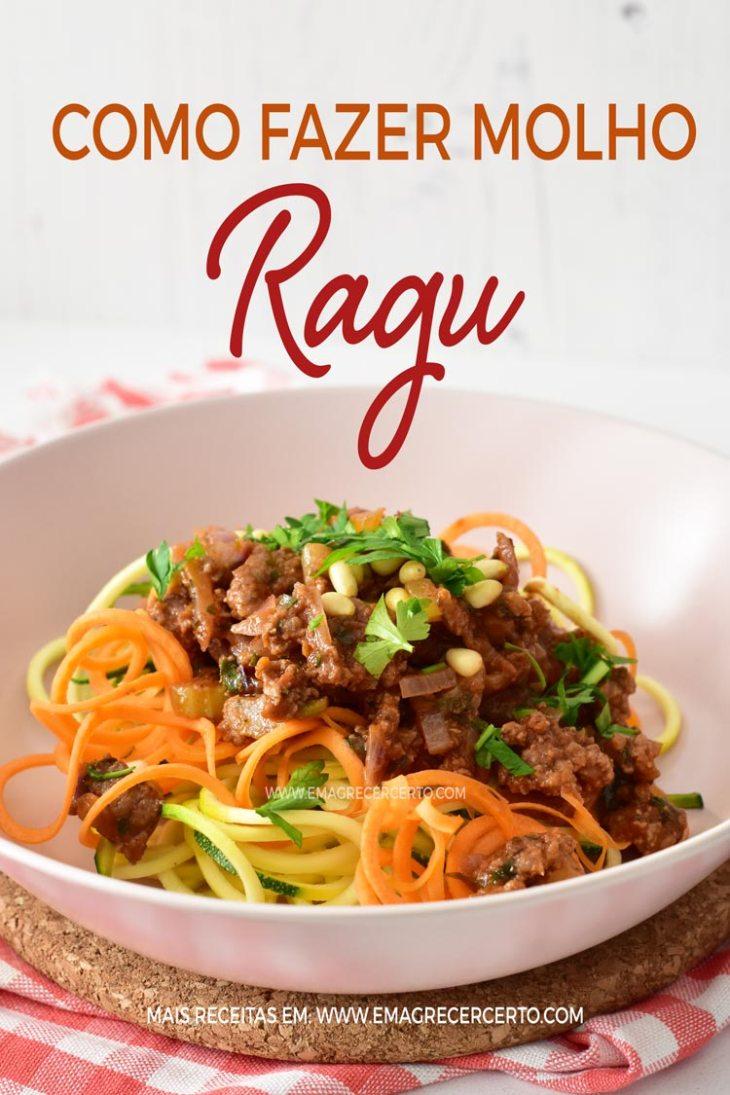 Como Fazer Molho Ragu | Low carb, paleo, sem lactose, sem glúten | Blog Emagrecer Certo #ragu #emagrecer #lowcarb #paleo #receitassaudaveis #molho