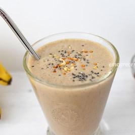 Smoothie energético com guaraná   blog Emagrecer Certo #smoothie #saudavel #pretreino #cafedamanha