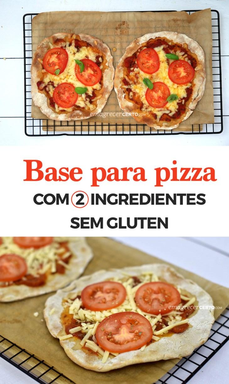 Base para pizza sem glúten com apenas dois ingredientes | Blog Emagrecer Certo