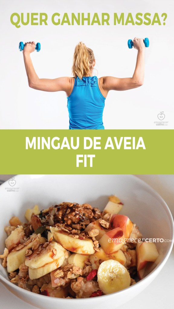 Mingau de Aveia Fit, Protéico e Sem lactose | Blog Emagrecer Certo #nutricao #reeducacaoalimentar #receitafit #ganhodemassa #musculacao