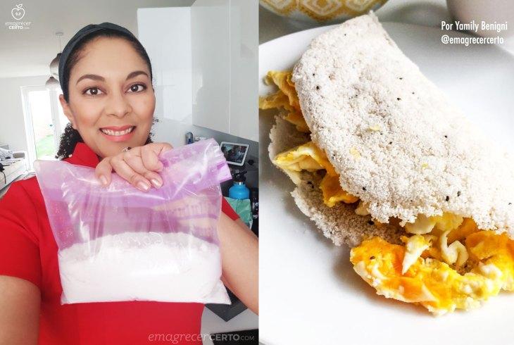 Como fazer tapioca com polvilho doce #tapioca #emagrecercerto