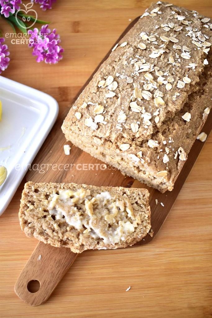 Pão de Aveia Funcional | Sem trigo, sem leite, sem ovos | Blog Emagrecer Certo #emagrecercerto #receita saudavel #receitafuncional #nutricao #reeducacaoalimentar