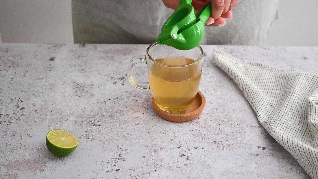 Chá de gengibre termogênico com limão
