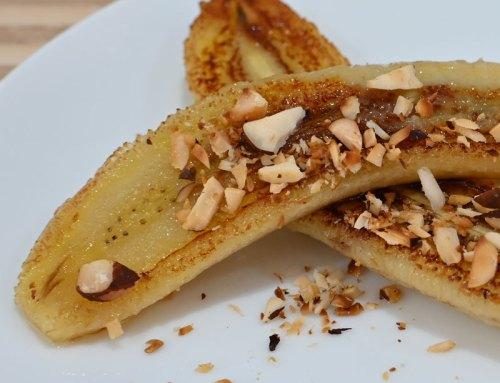 Receita do livro: Banana caramelada com castanhas em 5 minutos