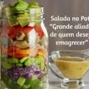 Salada no pote: grande aliada na perda do peso