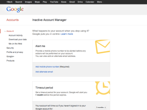 gmail inactivity-manager