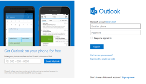 Hotmail Sign in
