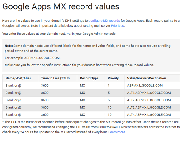 Step 5: Change your domain's MX records