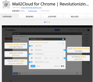 Mail2Cloud for Chrome