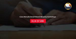 Cara Menulis Email Resmi Beserta Contohnya