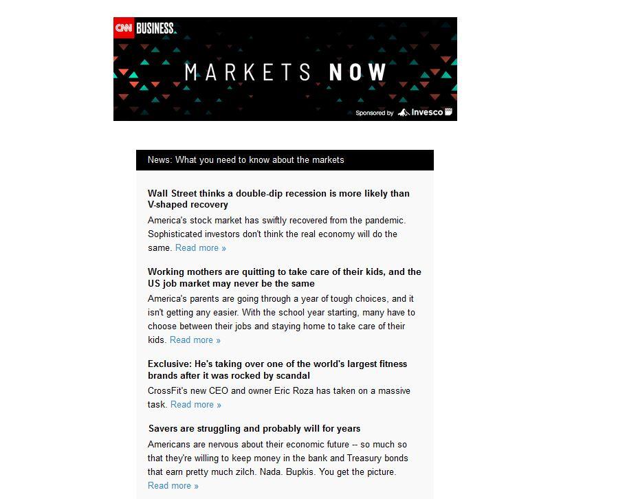CNN Email Newsletter body
