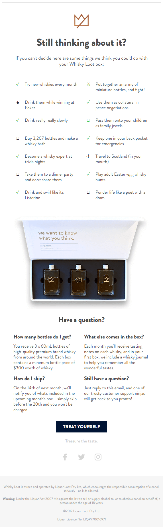 Whisky-Loot-Humorous-cart-abandonment-email