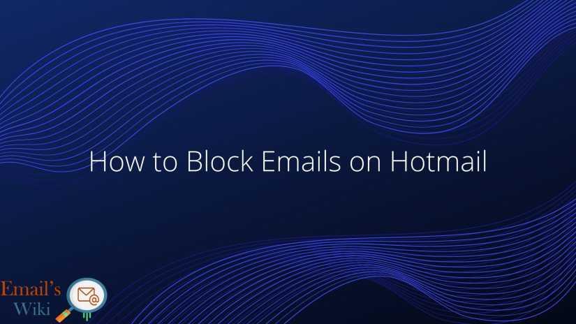 block emails on Hotmail