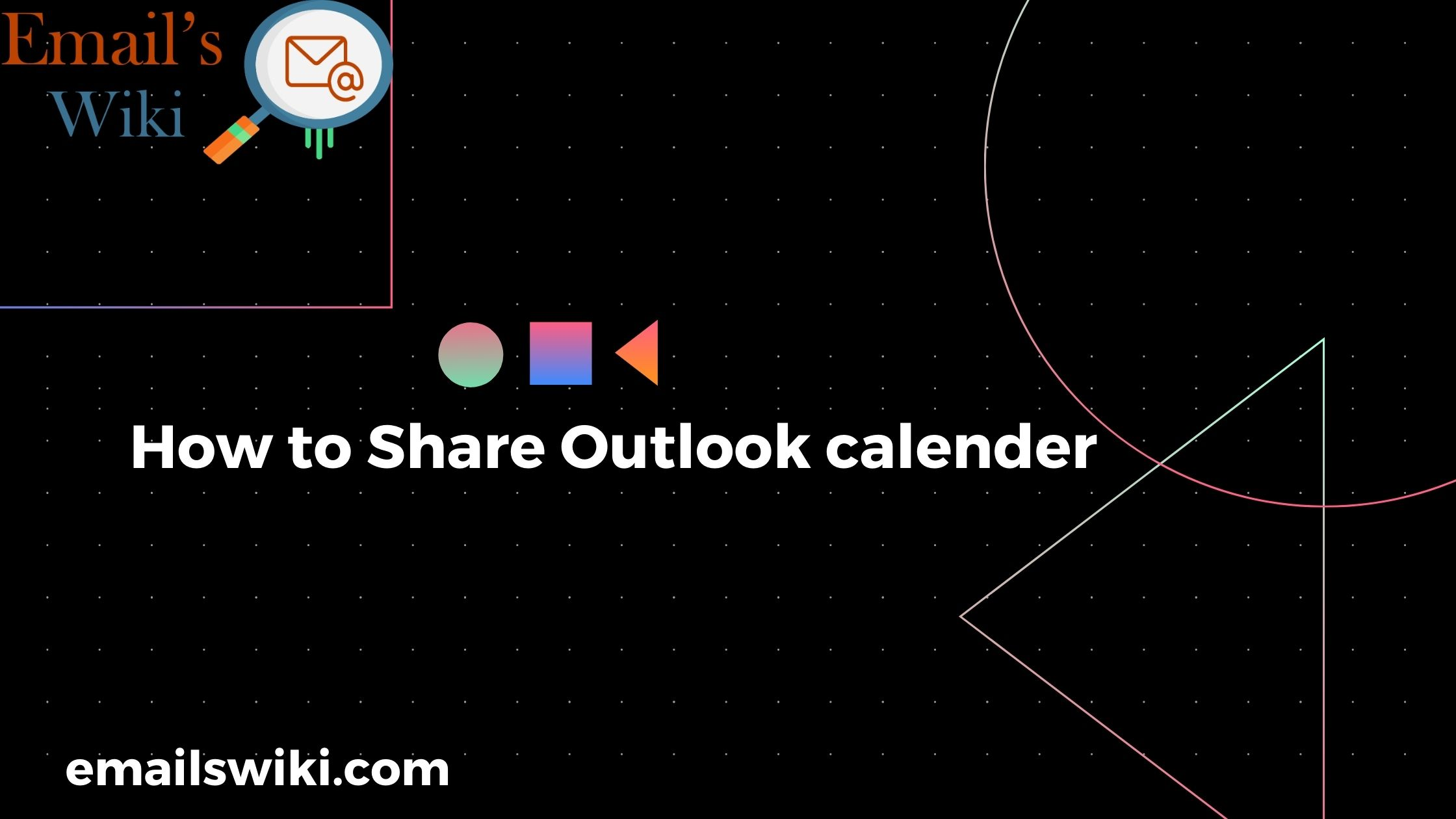 Share ouloook calender