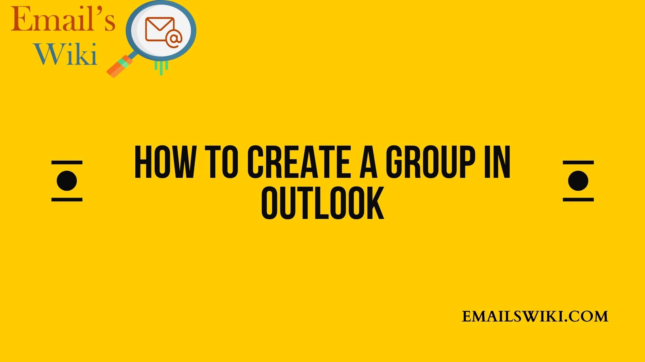 create a group in outlook