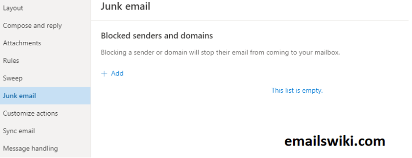 how to block emails in hotmail