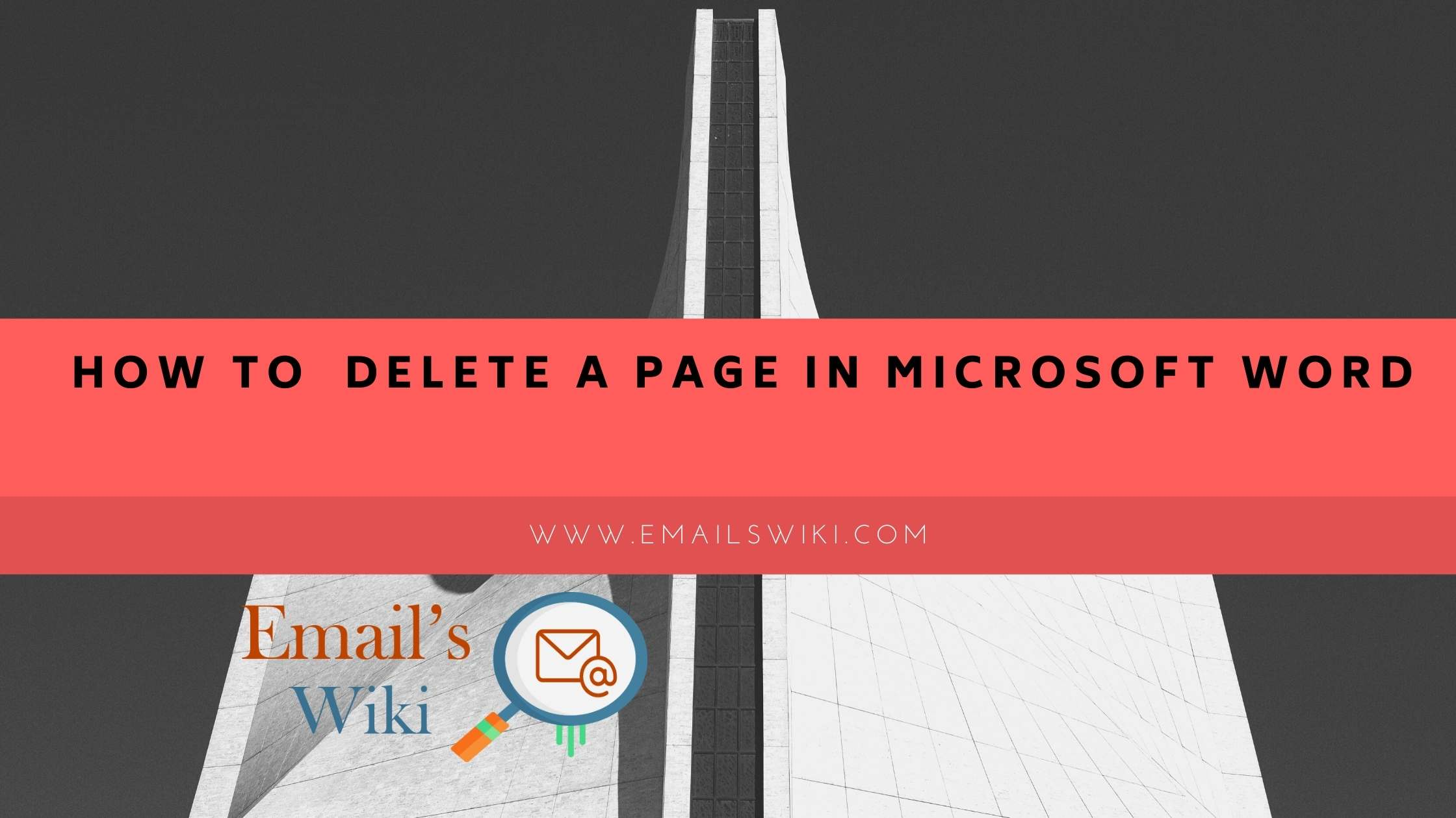 delete a page in microsoft word