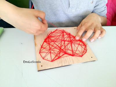 Tehnica string art pentru copii
